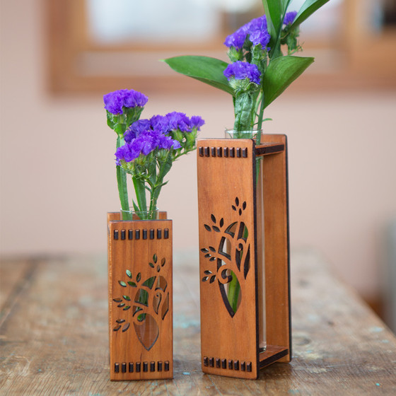 Handcrafted Wooden Bud Vases Isabella Catalog