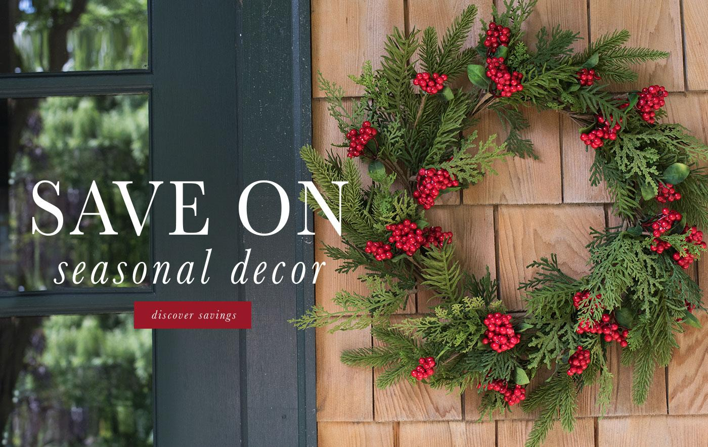 Save on Seasonal Decor
